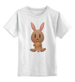 """Детская футболка классическая унисекс """"Кролик"""" - заяц, кролик, животное"""