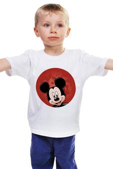 """Детская футболка классическая унисекс """"Микки Маус мультяшный герой"""" - микки маус, мультяшка, mikki maus, мышонок микки, мультипликационный герой"""
