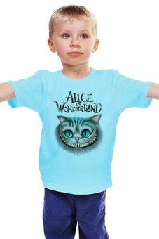 """Детская футболка """"Кот.      """" - котик, чеширский кот, алиса в стане чудес"""