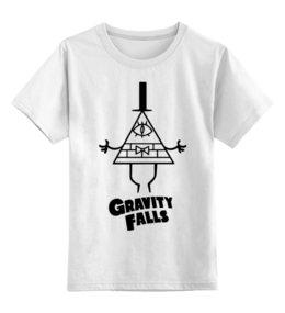 "Детская футболка классическая унисекс ""Билл Шифр"" - gravity falls, гравити фолз, bill cipher, билл шифр"