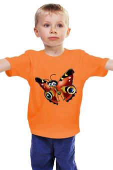 "Детская футболка ""Бабочка"" - бабочка махаон"
