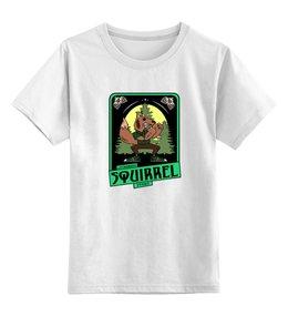"""Детская футболка классическая унисекс """"squirrel"""" - футболка мужская"""