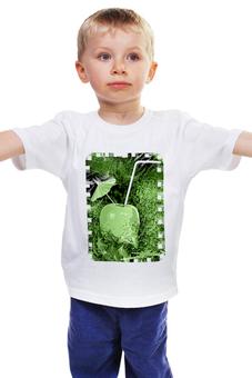 """Детская футболка классическая унисекс """"Яблочный микс"""" - напиток, абстракция, яблоко, фрукт, натюрморт"""
