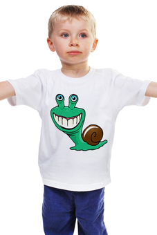 """Детская футболка """"Улитка"""" - улитка"""