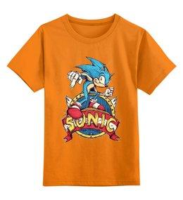 """Детская футболка классическая унисекс """"Sonic the Hedgehog"""" - игра, соник"""