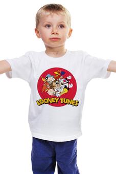 """Детская футболка классическая унисекс """"looney tunes"""" - мульт, looney tunes, луни тюнс, луни тюнз"""
