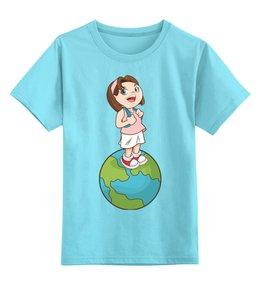 """Детская футболка классическая унисекс """"Школа"""" - девочка, школьница, школа"""