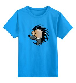 """Детская футболка классическая унисекс """"Ёж Животные"""" - ёж"""