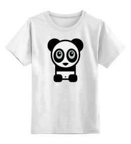 """Детская футболка классическая унисекс """"Панда (Panda)"""" - панда"""