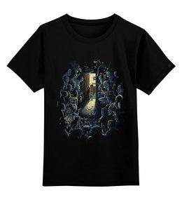 """Детская футболка классическая унисекс """"Страх темноты"""" - страх, хоррор, монстры, темнота, шкаф"""