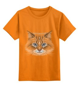 """Детская футболка классическая унисекс """"Котик"""" - кот, животное"""