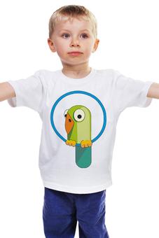 """Детская футболка """"Попугай"""" - попугай, кеша, wax, попугайчик, попугай на колечке"""