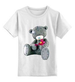 """Детская футболка классическая унисекс """"Футболка детская с изображением"""" - футболка, рисунок, прикольные, оригинально, мишка, медведь"""