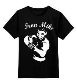 """Детская футболка классическая унисекс """"Майк Тайсон"""" - бокс, боксер, майк тайсон, mike tyson, iron mike"""