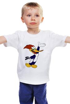 "Детская футболка ""Вуди Вудпекер"" - дятел вуди, tshirt, woody woodpecker, вуди вудпекер"