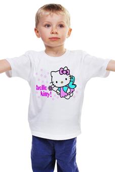 "Детская футболка классическая унисекс ""КОШКА КИТИ.ИГРУШКА. МУЛЬТ. KITTY."" - кот, kitty, любимая, кити"