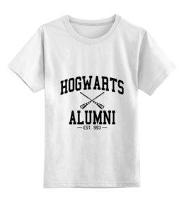 """Детская футболка классическая унисекс """"hogwarts alumni"""" - harry potter, гарри поттер, выпускник хогвартс"""