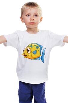 """Детская футболка """"Рыбка 2"""" - море, рисунок, рыбка"""