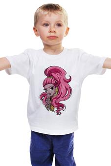 """Детская футболка """"Монстр хай"""" - девочка, фэнтези, monster high, школа монстров"""