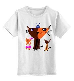 """Детская футболка классическая унисекс """"Котики"""" - дети, семья, коты"""