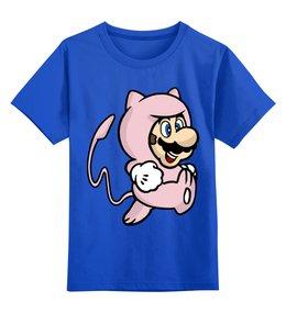 """Детская футболка классическая унисекс """"Марио"""" - mario, pokemon, покемон, покемоны, марио"""
