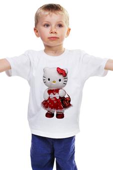 """Детская футболка """"КОШКА КИТИ.ИГРУШКА. МУЛЬТ. KITTY."""" - кошка, kitty, мульт, игрушка, кити"""