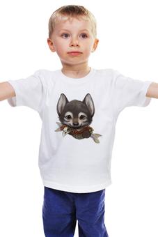 "Детская футболка ""Песик"" - собачка, волчонок"