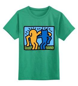 """Детская футболка классическая унисекс """"Кот и собака - друзья"""" - кот, кошка, собака, дружба, друзья"""