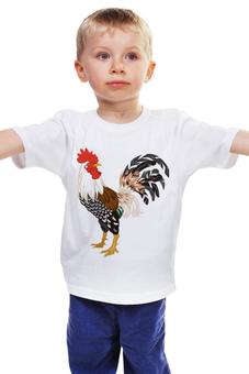 """Детская футболка классическая унисекс """"Новый год 2017"""" - новый год, нг, петух, 2017, год петуха"""