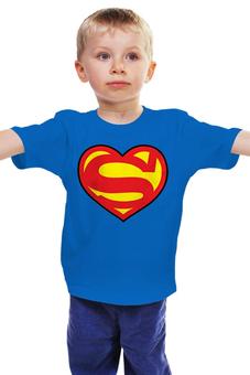 """Детская футболка """"Я люблю Супермена"""" - супермен, комиксы, superman, супергерои"""