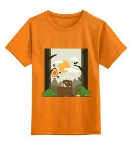 """Детская футболка классическая унисекс """"Медоед"""" - животные, медведь, природа, иллюстрация, мед"""