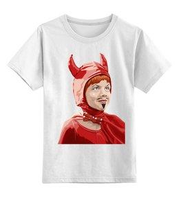 """Детская футболка классическая унисекс """"Трудный ребенок_Джуниор"""" - авторские майки, junior, джуниор, трудный ребенок, problem child, little devil, чертенок"""