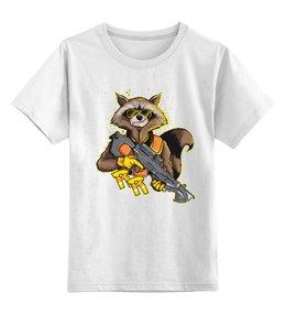 """Детская футболка классическая унисекс """"Стражи Галактики"""" - енот, ракета, стражи галактики, guardians of the galaxy, енот ракета"""