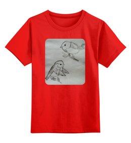"""Детская футболка классическая унисекс """"Снегири"""" - зима, снегири"""