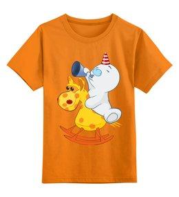 """Детская футболка классическая унисекс """"Снеговик"""" - новый год, снеговик"""