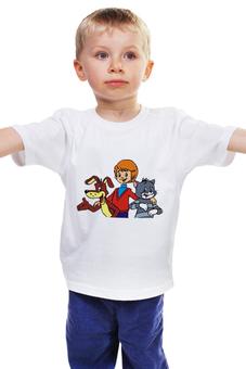 """Детская футболка """"Каникулы в Простоквашино"""" - ссср, мультфильмы, каникулы, простоквашино"""