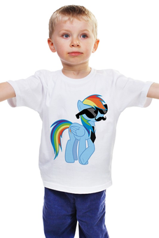 "Детская футболка ""20 % cooler"" - pony, rainbow dash, mlp, пони, ponies"