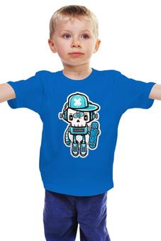 """Детская футболка классическая унисекс """"Зомби """" - зомби скейтбордист"""