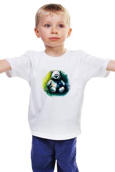 """Детская футболка классическая унисекс """"медведь плюшевый"""" - улыбка, детская, медвежонок, игрушка, плюшевый медведь"""