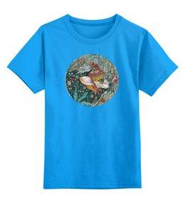 """Детская футболка классическая унисекс """"Волшебный лес"""" - собака, рыжий, корги, пемброк, вельшкорги"""