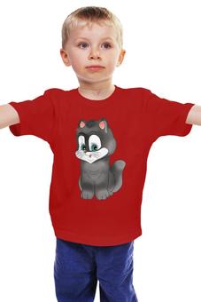 """Детская футболка классическая унисекс """"Котёнок """" - мультяшка, мимимишка"""