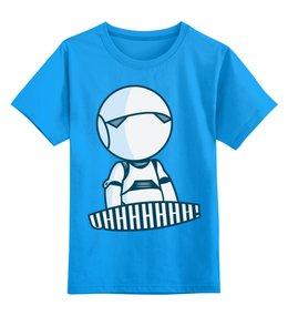"""Детская футболка классическая унисекс """"Робот"""" - робот"""