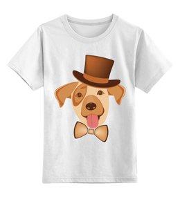 """Детская футболка классическая унисекс """"Щенок по кличке Арчи"""" - dog, собака, песик, домашнее животное, друг"""