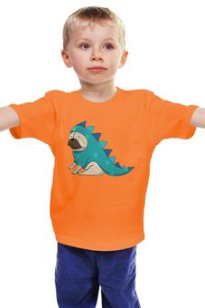"Детская футболка ""Мопс (Pug)"" - pug, собака, дракончик, мопс, собачка в костюме"