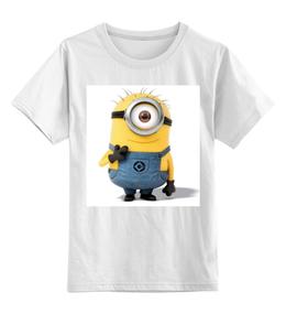 """Детская футболка классическая унисекс """"Миньены, студия Пиксар, мультгерои"""" - миньены, студия пиксар"""