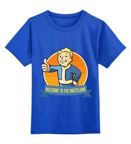 """Детская футболка классическая унисекс """"фоллаут (  fallout )"""" - fallout, фоллаут, fallout 4, фоллаут 4"""