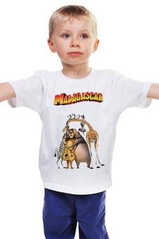 """Детская футболка классическая унисекс """"Мадагаскар"""" - мадагаскар, мульт"""