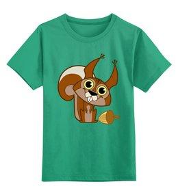 """Детская футболка классическая унисекс """"Белка"""" - животное, белка, белочка, орех"""