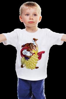 """Детская футболка """"Красавица и чудовище"""" - дисней, герой, принцесса, сказка, мульт"""