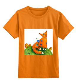 """Детская футболка классическая унисекс """"Маленький хитрый лисёнок"""" - лиса, футболка с лисой"""